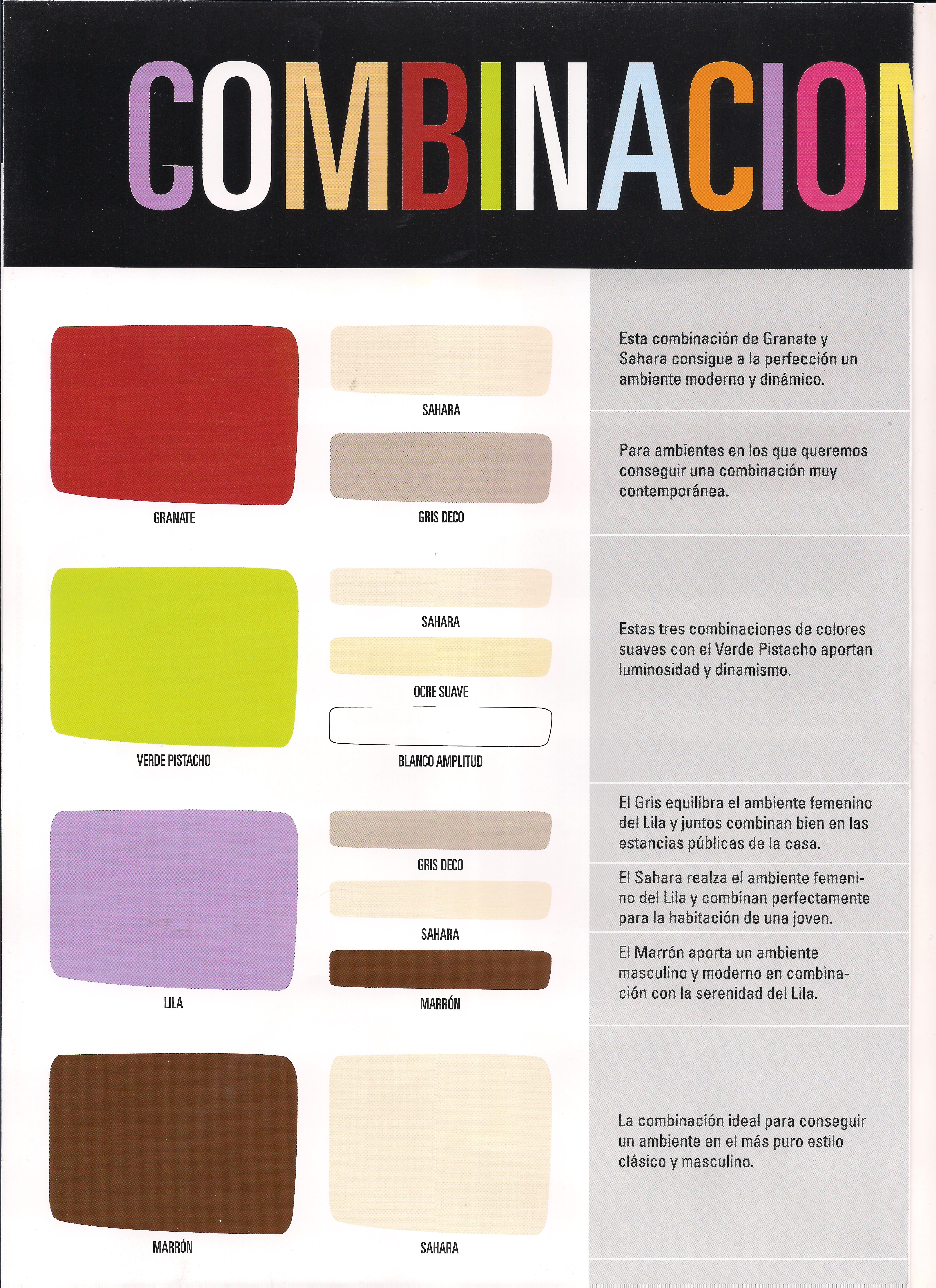 Combinaciones de colores pinturas blog for Pintura interior colores combinaciones