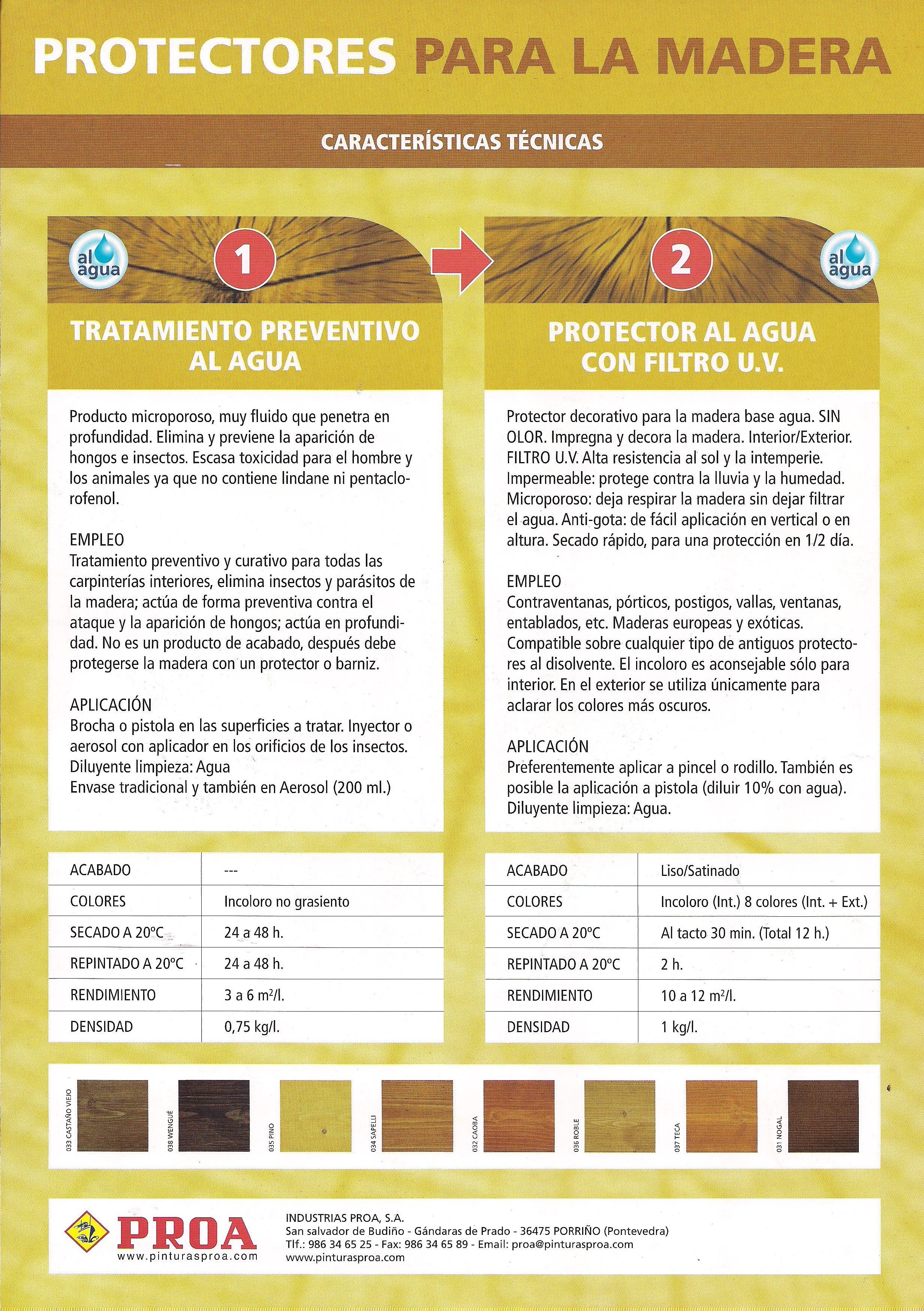 Tratamiento madera exterior great catlogo with for Muebles hermanos mora